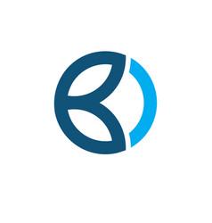 Initial b circle logo vector