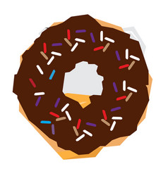 Isolated geometric donut vector