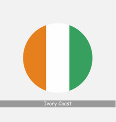 Ivory coast round circle flag vector