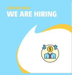 Join our team busienss company avatar we are vector