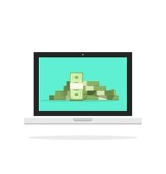 Laptop money pc computer big vector