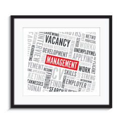 Management word background picture frame vector