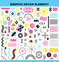 Memphis design elements set vector