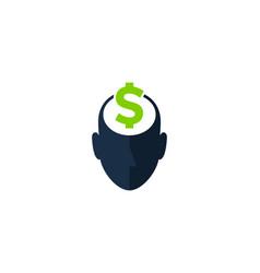Money human head logo icon design vector