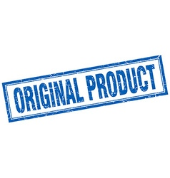 original product blue square grunge stamp on white vector image