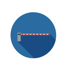 parking barrier icon vector image