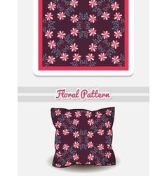 Pillow Doodle Flowers vector