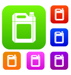 plastic jerry can set collection vector image