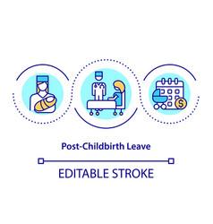 Post-childbirth leave concept icon vector