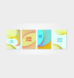 poster covers set with circle shapes trendly vector image