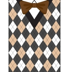 Preppy argyle background vector