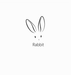 Rabbit bunny icon vector