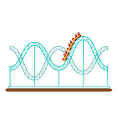 Roller coaster rollercoaster amusement park ride vector