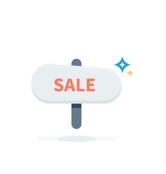 Sale Badge Signboard Design Flat vector