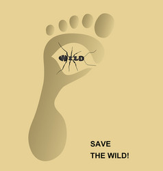 save the wild2 vector image