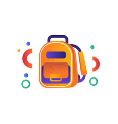 School backpack education concept back to school vector