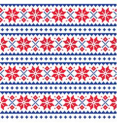 Schristmas winter seamless pattern vector