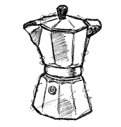 scribble series - coffeemaker vector image