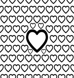 Seamless Big Heart Pattern vector image
