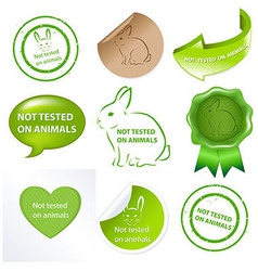 Set Against Testing For Animals vector