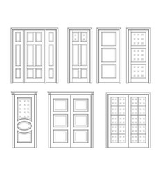 set door technical drawing vector image