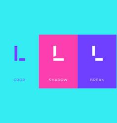 set letter l minimal logo icon design template vector image