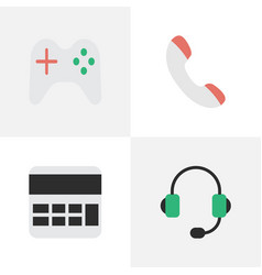 set of simple gadget icons elements accounting vector image