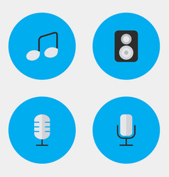 Set of simple melody icons vector