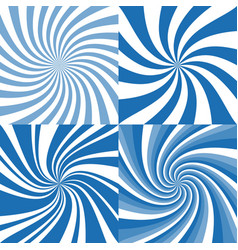 Set of spiral background vector