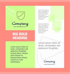 Sheild company brochure title page design company vector
