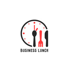 simple cartoon business lunch logo vector image