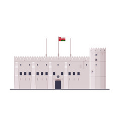 sultan armed forces museum muscat city vector image