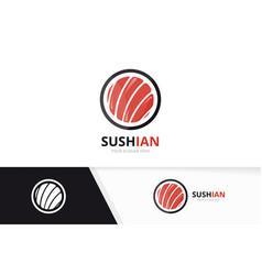 Sushi logo combination japanese food vector