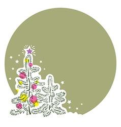 template post congratulates Happy New Year vector image
