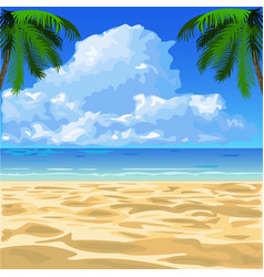 Tropical ocean beach vector