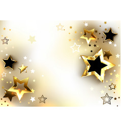 White background with gold stars vector