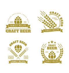 beer set of emblems vector image