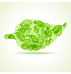 Eco leaves make a leaf icon vector image