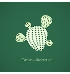 Green plant prickly pear cactus logo vector image vector image