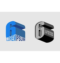 Number 6 Figure 6 Set Logo or corporate identity vector image