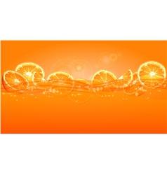 orange juice splash color background 10 v vector image vector image