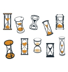Set of hourglasses or egg timers vector image vector image