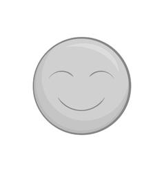 Smiley face icon black monochrome style vector image vector image