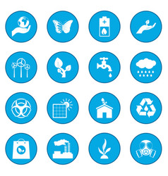 universal ecology icon blue vector image