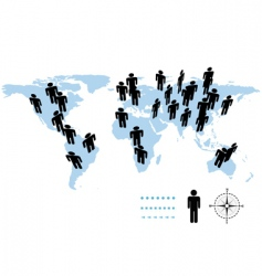 world population vector image vector image