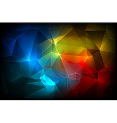 Colorful Abstract crystal background vector image