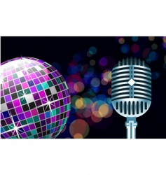 disco ball with microphone vector image