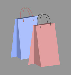 icon in flat design fashion paper bags vector image