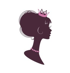 Portrait of a beautiful princess vector image vector image