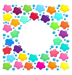 Round frame with colored stains vector image vector image
